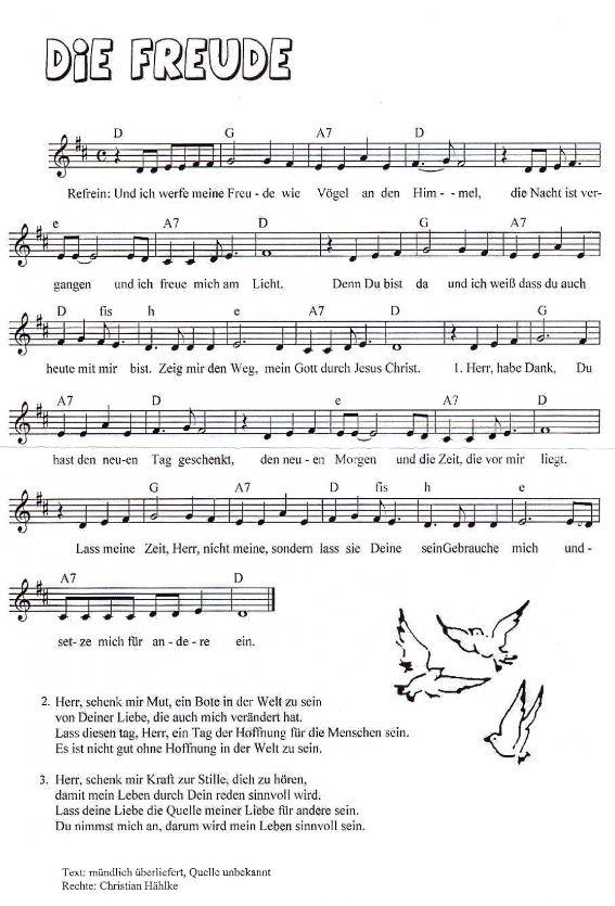 unser vater der du bist im himmel lied